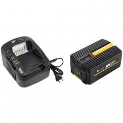 Pack chargeur + batterie GT ELEC 40 Volts - Capacité 2 Ah